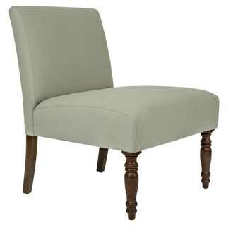 Handy Living Bradstreet Washed Clay Earth Grey Upholstered Armless Chair