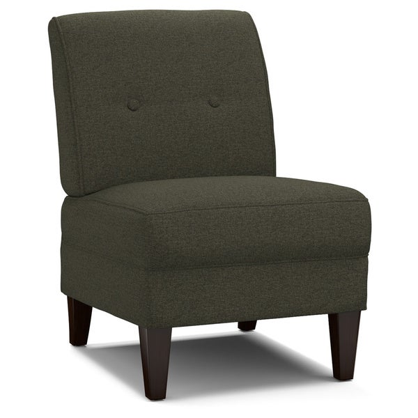 Portfolio Engle Basil Grey Linen Armless Chair