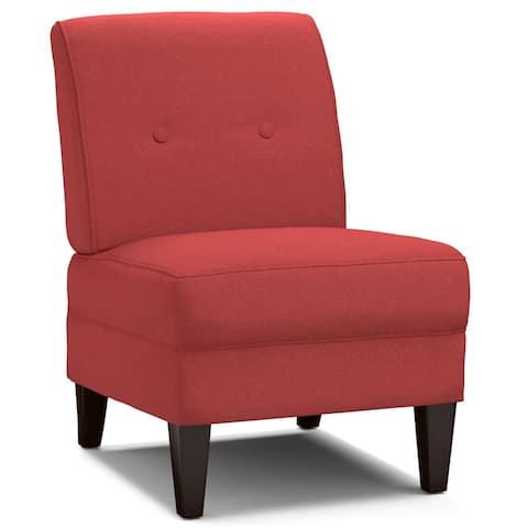 Handy Living Engle Sunset Red Linen Armless Chair