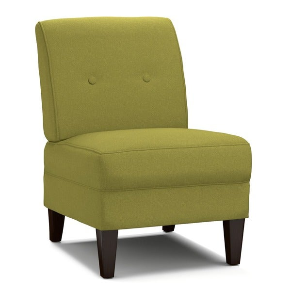Handy Living Engle Apple Green Linen Armless Chair Free Shipping Today Ov