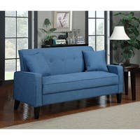 Clay Alder Home Pope Street Caribbean Blue Linen Sofa