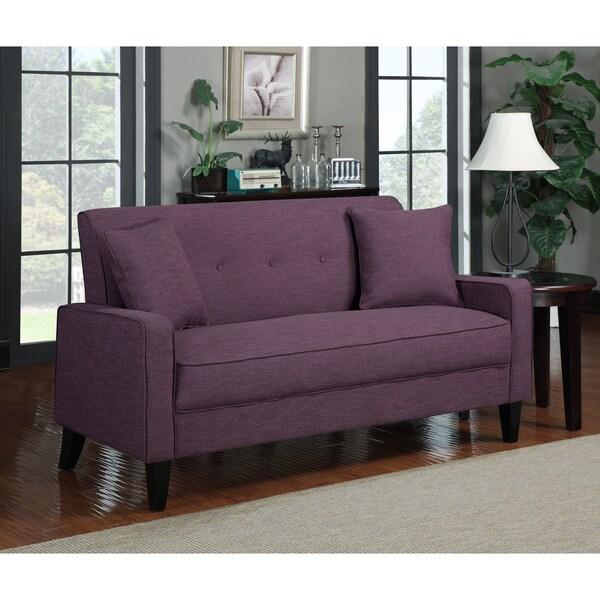 Portfolio Ellie Amethyst Purple Linen Sofa Reviews Deals Prices 14084722