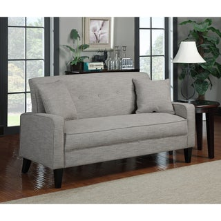 Handy Living Ellie Barley Tan Linen Sofa