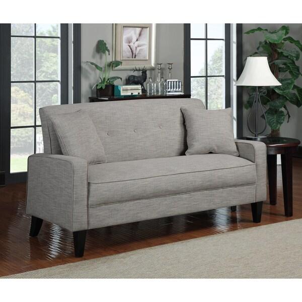 Portfolio Ellie Barley Tan Linen Sofa