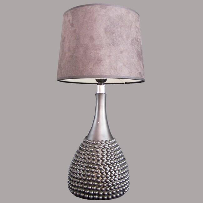 Rio 1-light Matte Black Resin Table Lamp