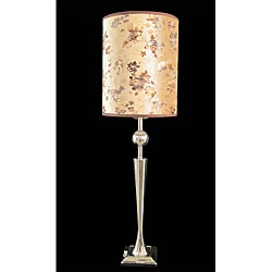 Geo 1-light Chrome Metal Table Lamp