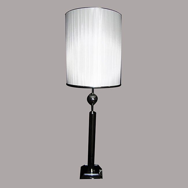 Leo 1-light Chrome Metal Table Lamp