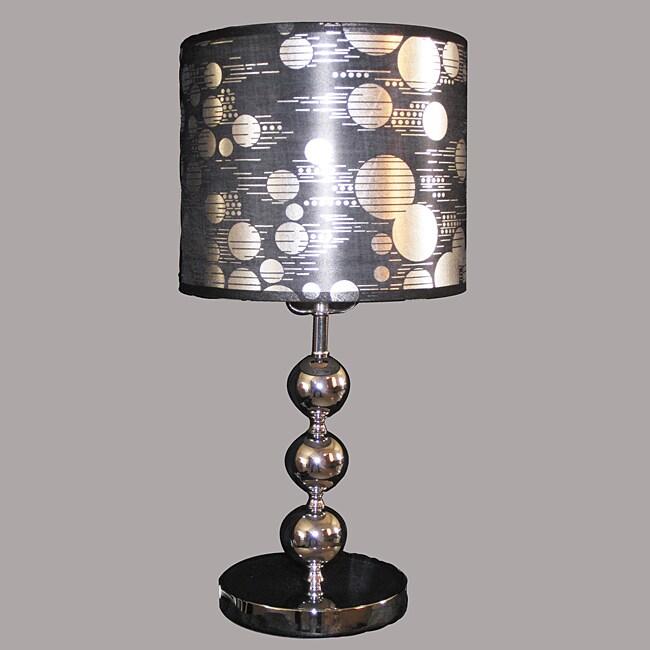 Noutica 1-light Chrome Metal Table Lamp