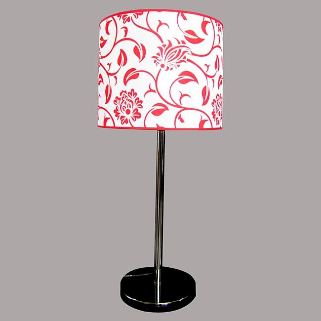 Navya Modern Black Metal Red/White Table Lamp