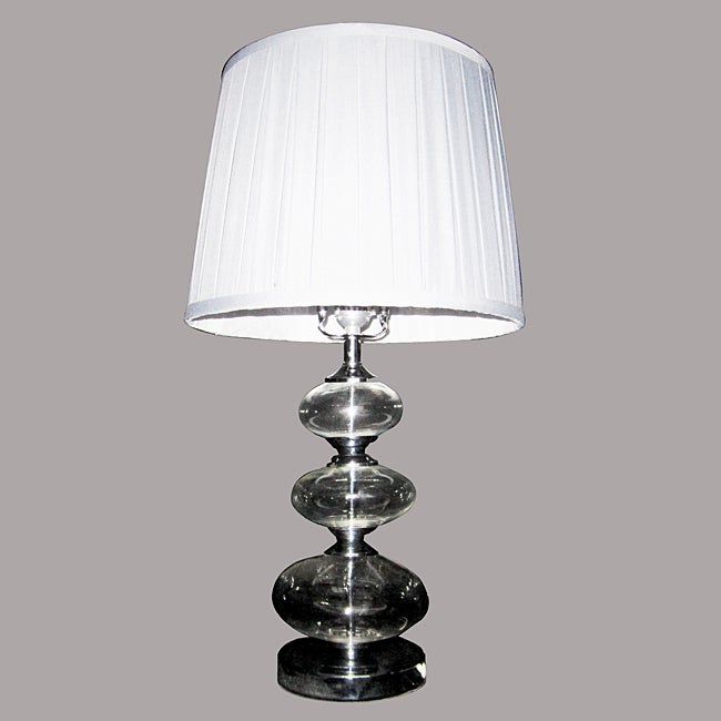 Goly Chrome Metal and Glass Table Lamp