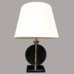Ajanta Modern Chrome Metal/White Table Lamp