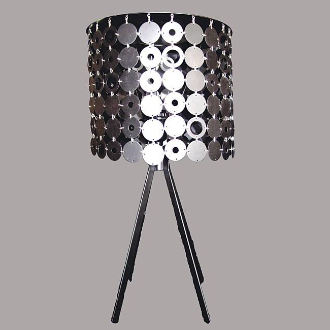 Reno Modern Chrome Metal Table Lamp