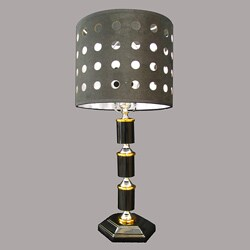 Modern Chrome/Marble Table Lamp - Thumbnail 0