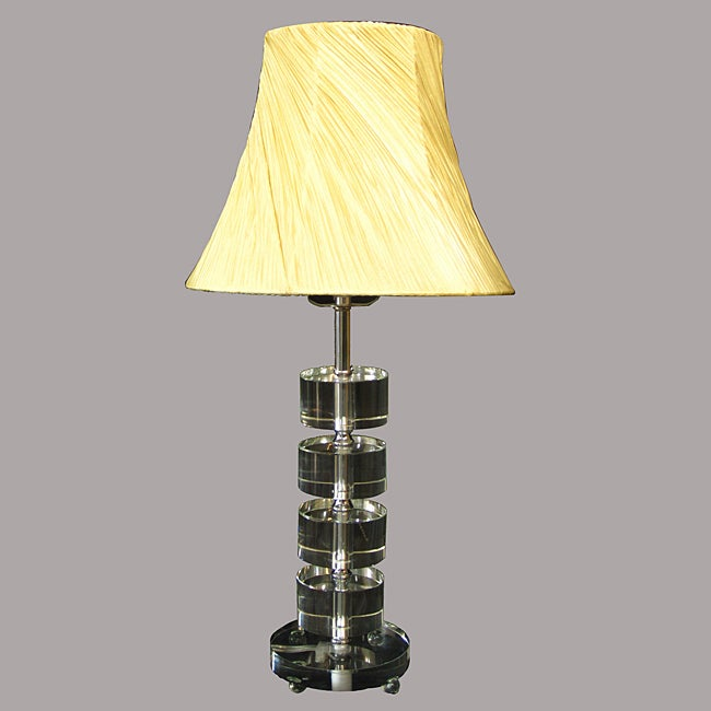 Crystal Modern Chrome Yellow Table Lamp