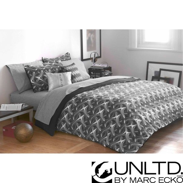 Charmant Marc Ecko Unltd Platinum Links Twin Size 2 Piece Duvet Cover Set