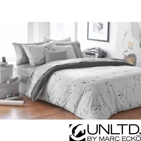 Marc Ecko Unltd Painted Love Twin Size 2 Piece Duvet Cover Set