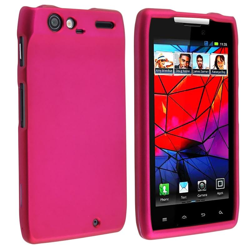 Hot pink Rubber Coated Case for Motorola Droid RAZR XT910/ XT912