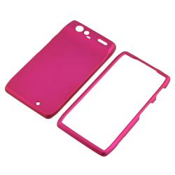 Hot pink Rubber Coated Case for Motorola Droid RAZR XT910/ XT912 - Thumbnail 2