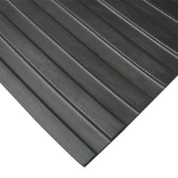 Rubber-Cal Wide Rib Corrugated Rubber Floor Mat (4' x 4' x 3mm)