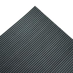 Rubber-Cal Fine Ribbed Corrugated Rubber Runners Mat (4' x 10' x 3mm)