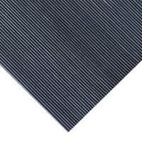 Rubber-Cal Fine Ribbed Corrugated Rubber Floor Mat (3' x 8' x 3mm)