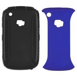 Black TPU/ Blue Hard Hybrid Case for BlackBerry Curve 8520/ 8530/ 9300