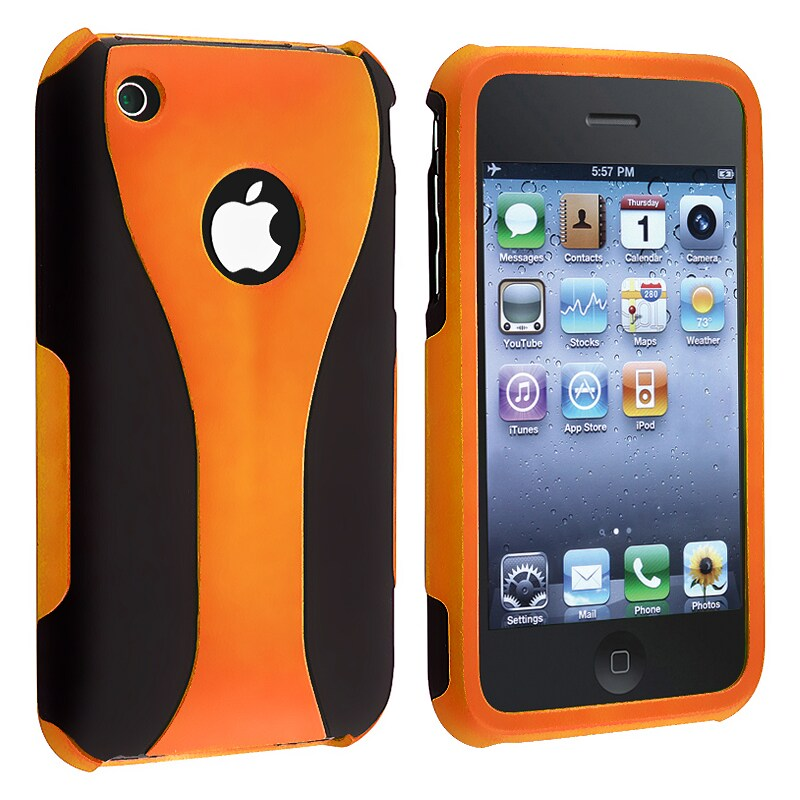 Orange/ Black Cup Shape Snap-on Case for Apple iPhone 3G/ 3GS