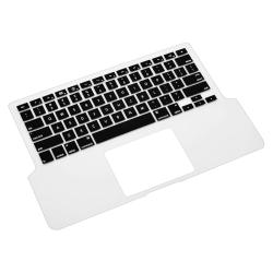 INSTEN Clear/ Black Soft Silicone Keyboard Skin Shield for Apple MacBook Pro - Thumbnail 2