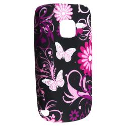 BasAcc Purple Butterfly Case/ Protector/ Headset/ Wrap for Nokia C3