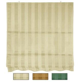 Handmade Striped Roman Shade (36 x 72)(China) - 36 x 72