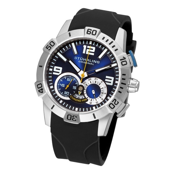Stuhrling Original Men's Gen-Y Sport Quartz Chronograph Blue Dial Watch