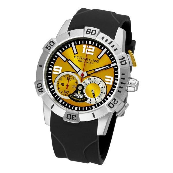 Stuhrling Original Men's Gen-Y Sport Quartz Chronograph Yellow Dial Watch