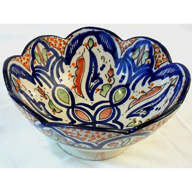 Decorative Ceramic Cafe Nada Bowl  , Handmade in Morocco