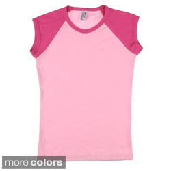 American Apparel Girls' Raglan Top