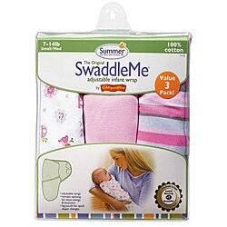 Summer Infant Girl's Girly Bug SwaddleMe Blankets (Pack of 3)