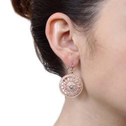 Simon Frank White Rhinestone Swivel Earrings with Hook Clasp