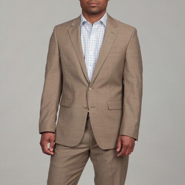 Kenneth Cole Men's Tan Wool 2-button Suit