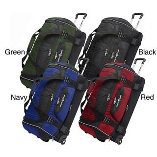 Pacific Gear 30-Inch Nylon Drop-Bottom Rolling Upright Duffel Bag