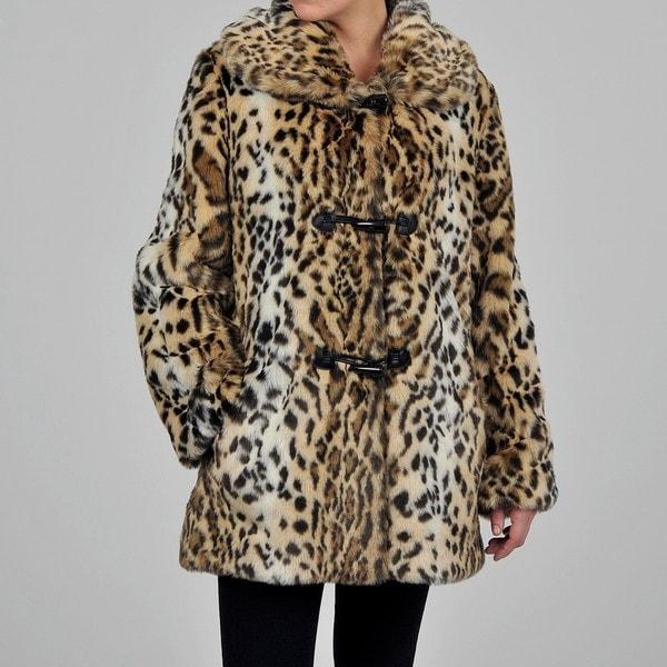 Nuage Women's Ocelot Faux Fur Coat