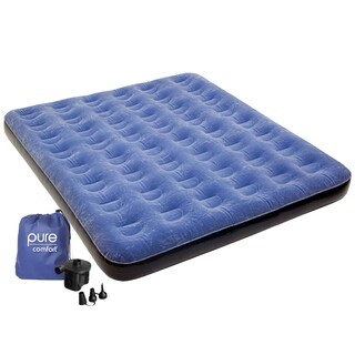 Pure Comfort Queen Size Air Mattress - Blue
