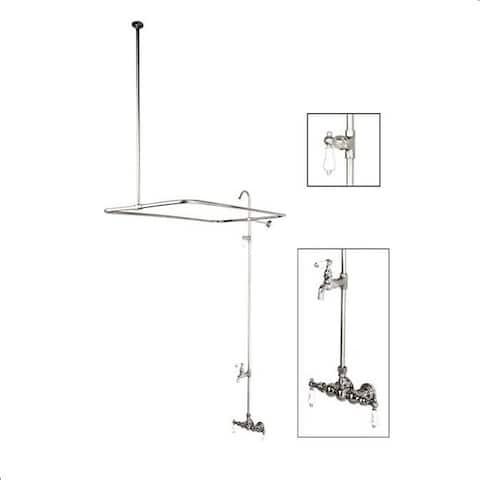 Vintage Chrome Shower Faucet and Shower Rod Set