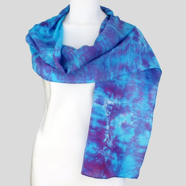 Gypsy River Riches Hand-dyed 'Harmony' Washable Silk Scarf