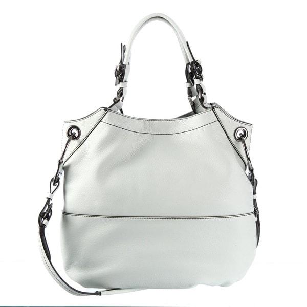 Oryany 'Sydney' Leather Light Grey Shoulder Bag