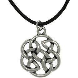 Carolina Glamour Collection Pewter Unisex Celtic Shield of Destiny Black Cord Necklace|https://ak1.ostkcdn.com/images/products/6496127/CGC-Pewter-Unisex-Celtic-Shield-of-Destiny-Black-Cord-Necklace-P14086542.jpg?impolicy=medium