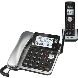 AT&T CL84102 DECT 6.0 Expandable Corded/Cordless Phone with Answering