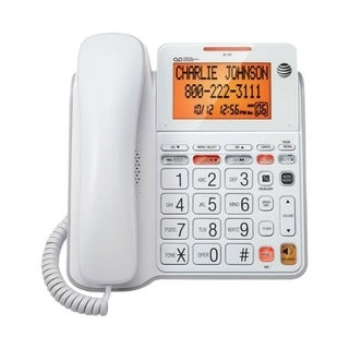 AT&T CL4940 Corded Phone System with Answering Machine, Big Buttons a