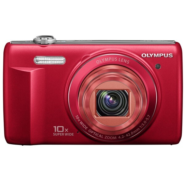 Olympus VR-340 16MP Red Digital Camera