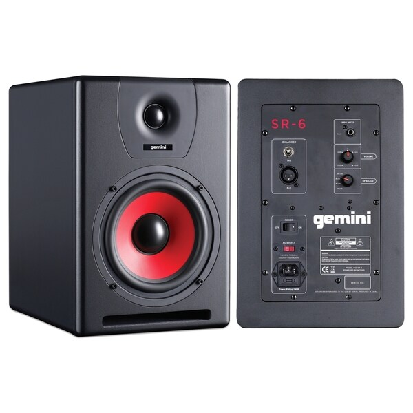 gemini SR Series SR-6 Speaker System - Black, Red