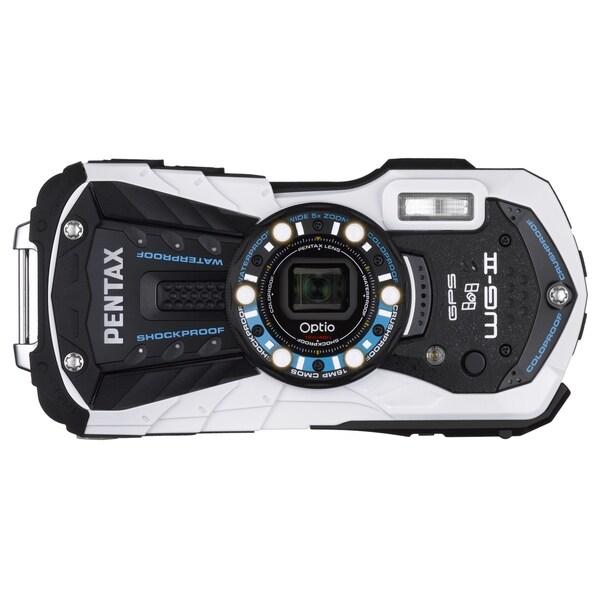 Pentax Optio WG-2 GPS 16 Megapixel Compact Camera - White