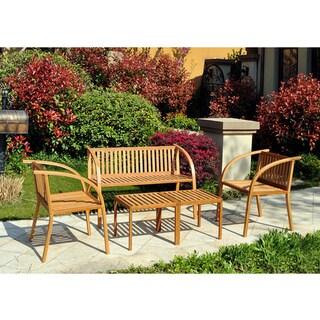 Handy Living Vineyard Bamboo Garden 5-piece Indoor/Outdoor Furniture Set